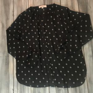 Tops - NWOT Loft Black and White Button Up Blouse Top